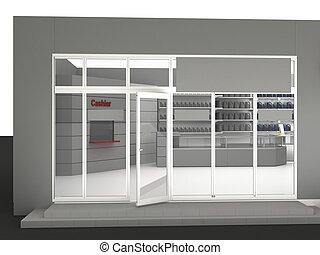 Illustration of automobile store - minimarket
