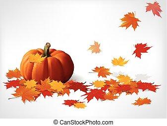 Autumn and pumpkins white backgroun - Illustration of Autumn...
