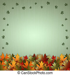 illustration of Autumn background with leaves
