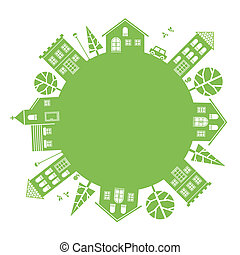 Illustration of average town
