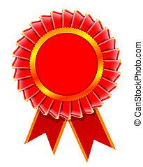 Illustration of award rosette - realistic illustration of...