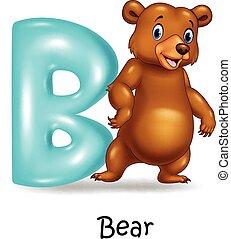 Illustration of B letter for Bear