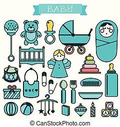 illustration of babies set