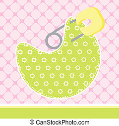 Baby Arrival Card - illustration of Baby Arrival Card with...