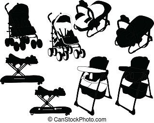 baby equipment - vector - illustration of baby equipment - ...