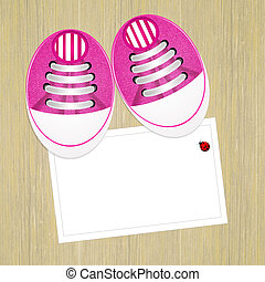 baby shoes - illustration of baby shoes