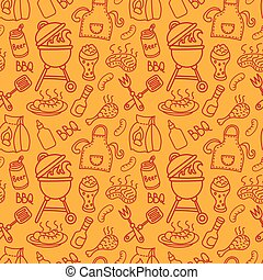 seamless barbecue pattern