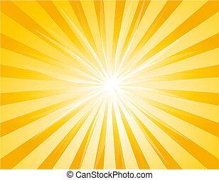 Illustration of background with Sunburst