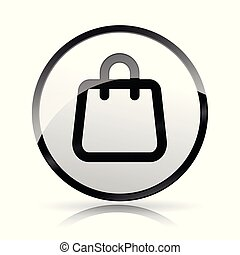 bag icon on white background