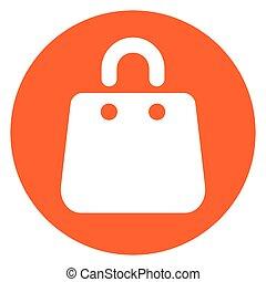 bag orange circle icon