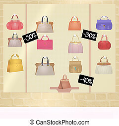 bags for sale - illustration of bags for sale