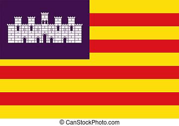 Balearic Islands flag - Illustration of Balearic Islands...