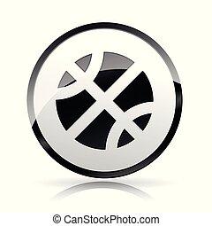 ball icon on white background