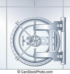 Illustration of Bank Vault Door