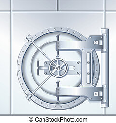 Illustration of Bank Vault Door - Rounded Bank Vault Door,...