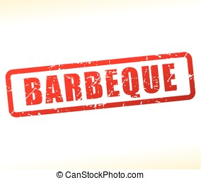 barbeque stamp on white background