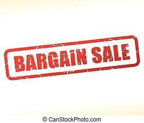 bargain sale text buffered - Illustration of bargain sale...