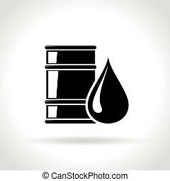 barrel icon on white background