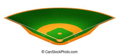 Baseball field - Illustration of Baseball field