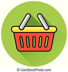 basket circle green icon design