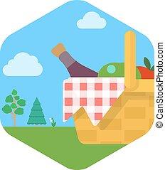 Illustration of Basket for picnic