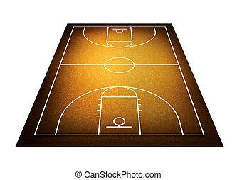 illustration of basketball court. - Illlustration of...