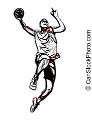 basketball player - illustration of basketball player