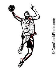 illustration of basketball player