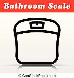 bathroom scale vector icon design