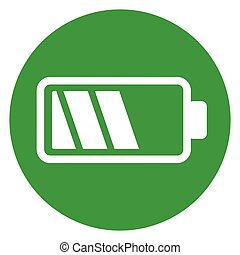 battery green circle icon