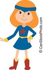 Illustration of beautiful cartoon little girl princess vector.