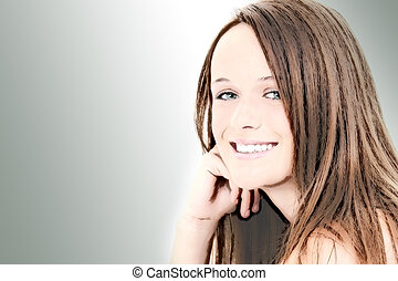 Illustration of Beautiful Fourteen Year Old Girl