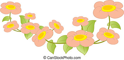 Illustration of beautiful periwinkle
