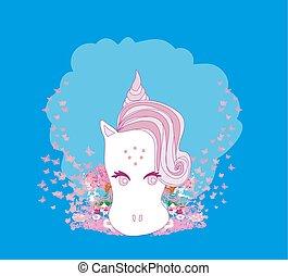 Illustration of beautiful Unicorn