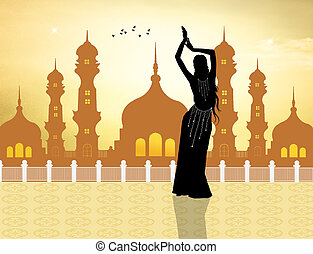 illustration of Belly dancer