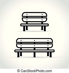bench icons on white background