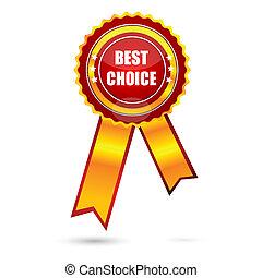 illustration of best choice award on white background