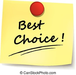 best choice yellow note