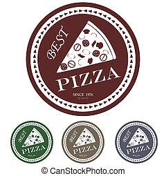 best pizza label