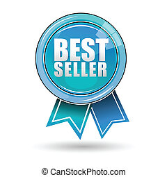 best seller label - illustration of best seller label on...