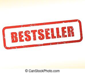 bestseller stamp on white background
