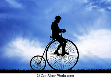 bicycle with big wheel