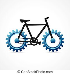 Bicycle with cog wheel