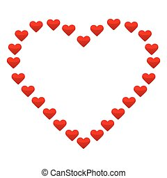 Big heart with small red hearts