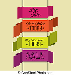 Illustration of Big Sale Icons and Labels, vector illustration