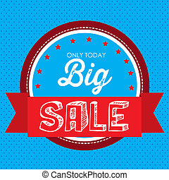 Big Sale - Illustration of Big Sale label, in bright colors...