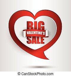 Big valentines day sale background