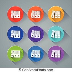 binder icons with various colors