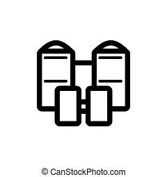 Illustration of binoculars icon on white background