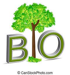 illustration of bio tree on white background